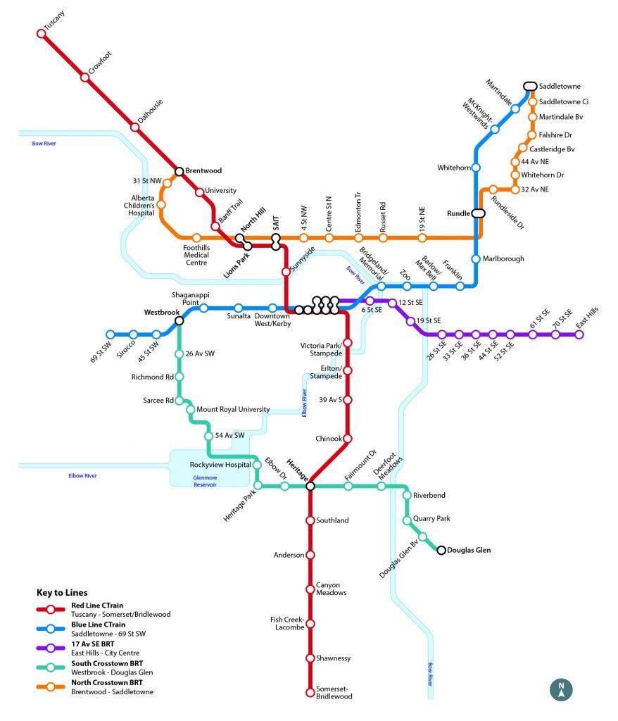 Lrt Calgary Map This is what Calgary's new transit system will look like (MAP