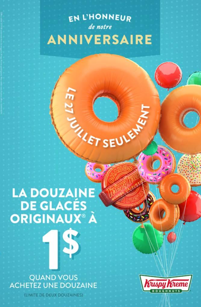 you can get a dozen doughnuts from krispy kreme for 1. Black Bedroom Furniture Sets. Home Design Ideas
