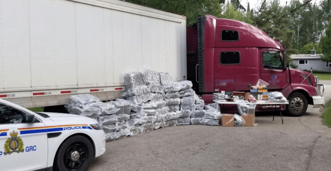 BC man caught driving across Canada with 1,000 pounds of pot