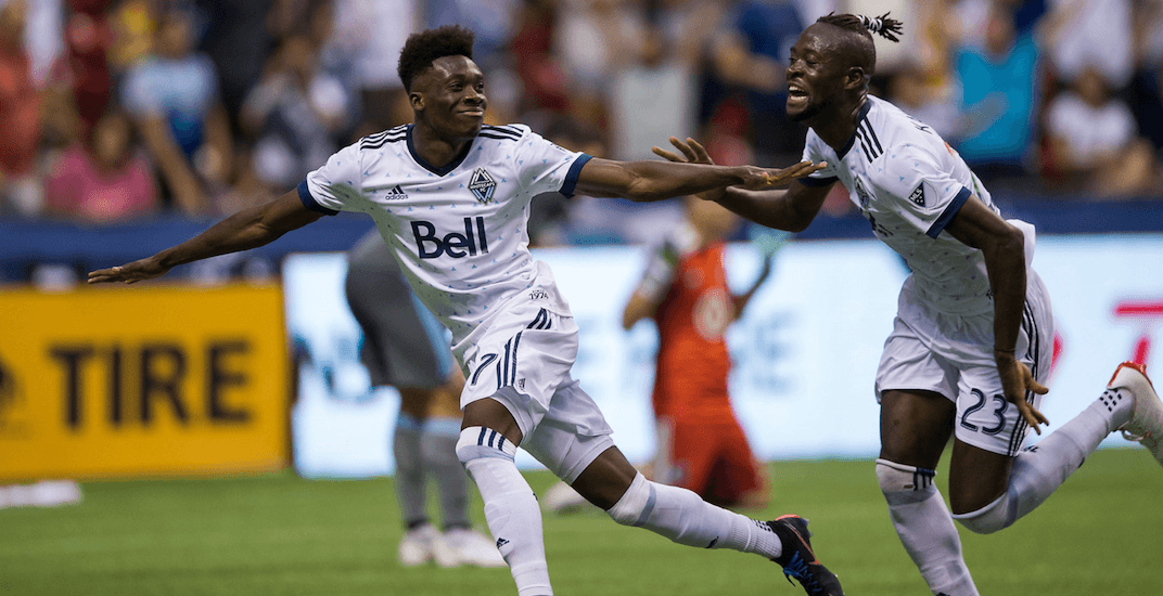 5d296826fb Alphonso Davies scores 2 highlight reel goals in return to Whitecaps ...