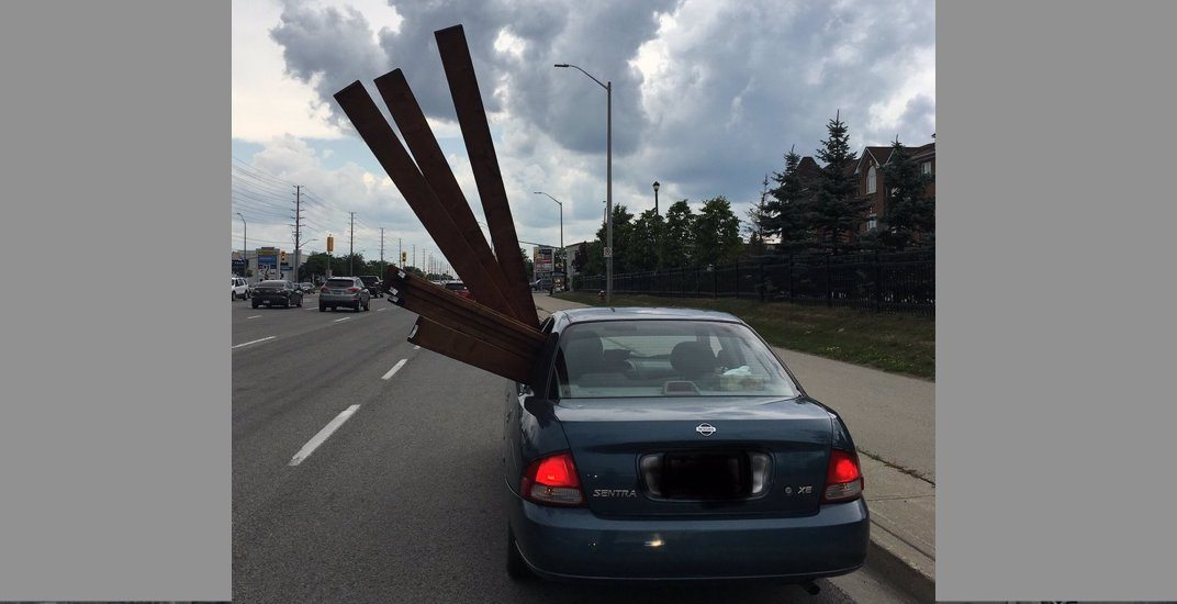 Driver fined $160 for 'insecure load' in Mississauga (PHOTO)