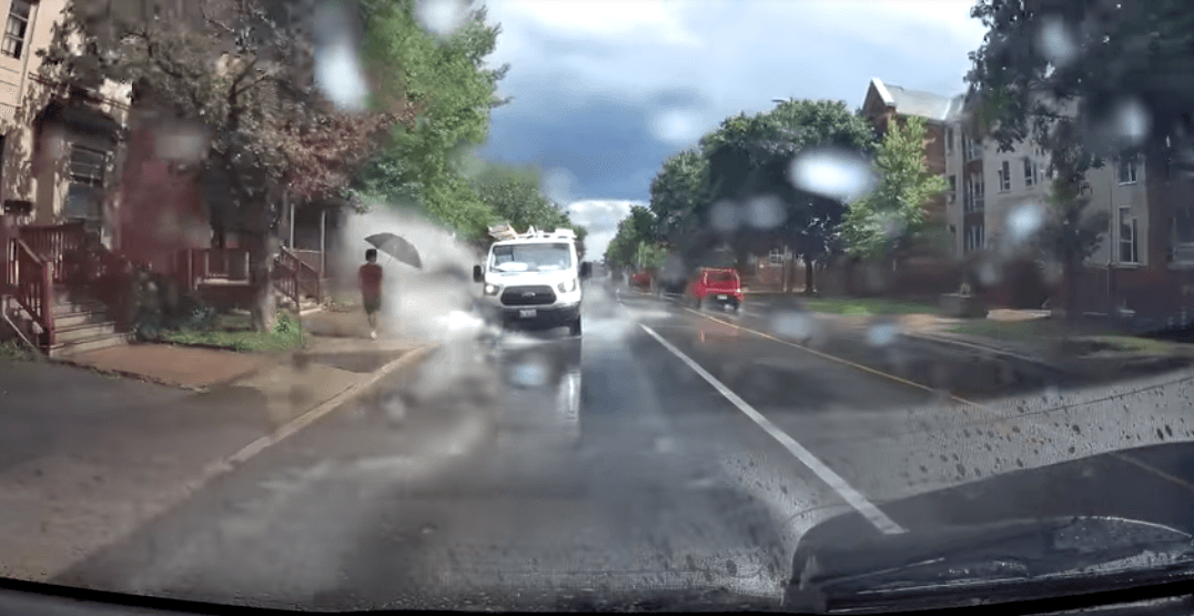 Canadian driver fired for purposely splashing pedestrians using company vehicle (VIDEO)
