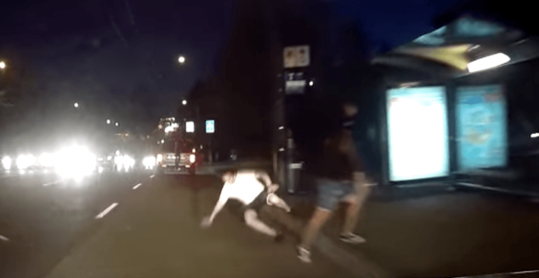 VPD searching for suspect who pushed man into oncoming traffic (VIDEO)