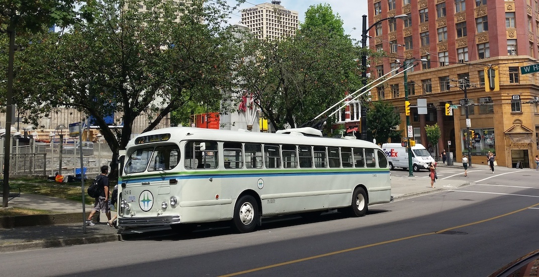 Vancouver vintage trolley bus