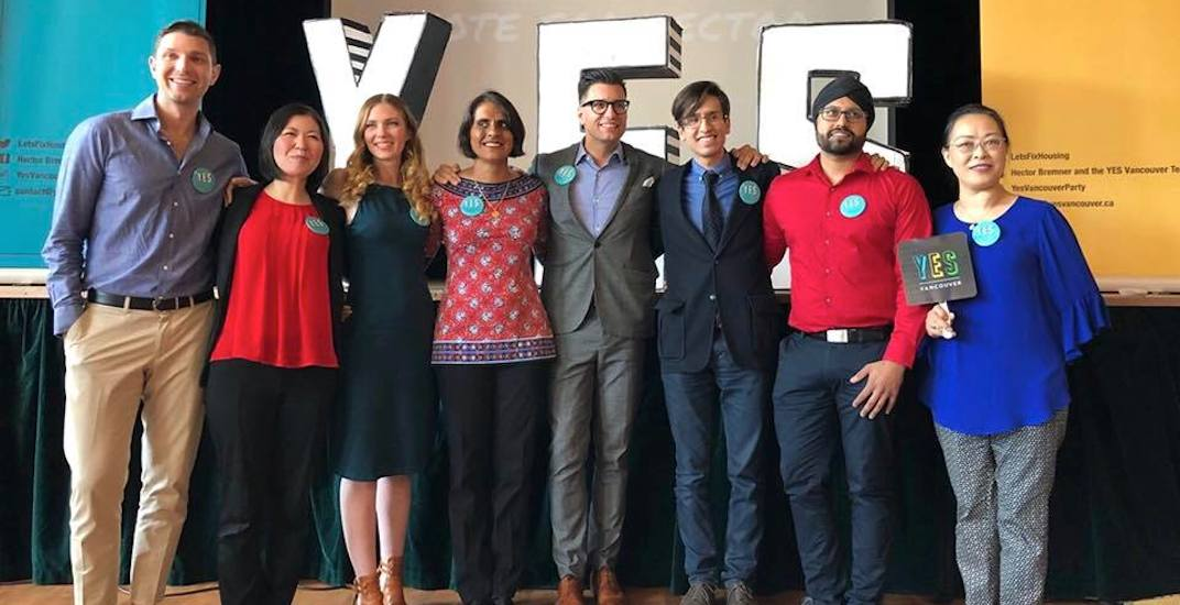 Hector Bremner's YES Vancouver party announces its election candidates