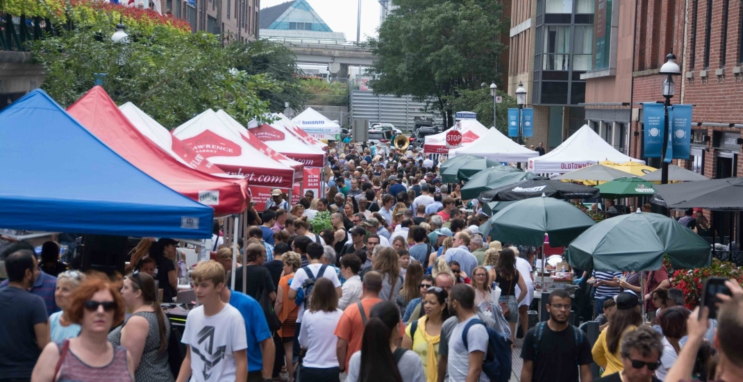 You can eat dinner under the stars at St. Lawrence Market this month