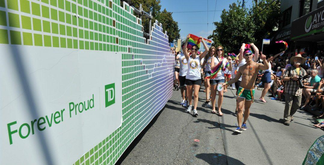 Pride paradetd bank