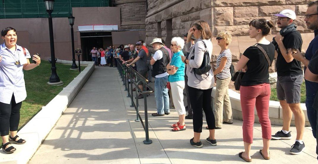 Hundreds line up at Queen's Park to protest Doug Ford's plans for Toronto (PHOTOS)