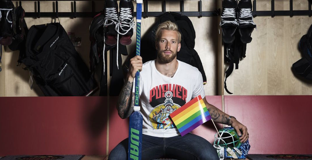 ba93ed74f Canucks goalie Anders Nilsson is sticking up for LGBTQ community in ...
