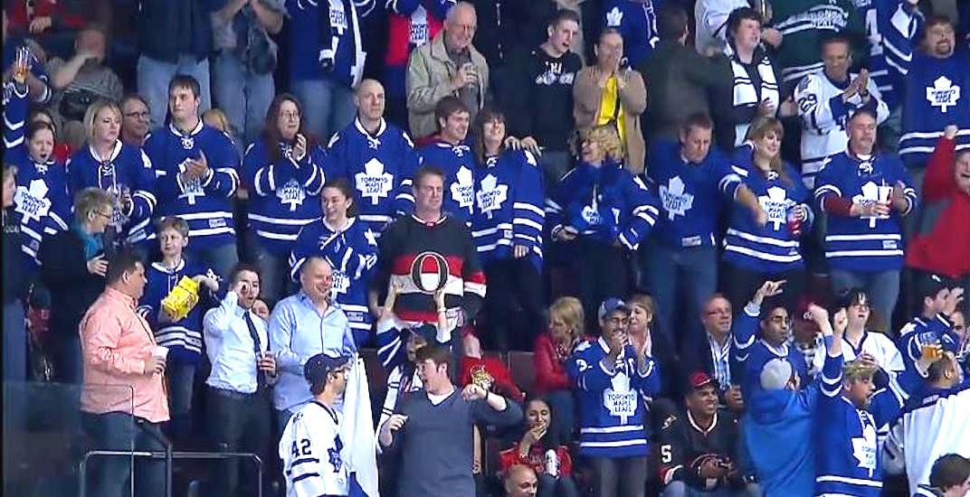 Leafs fans ottawa