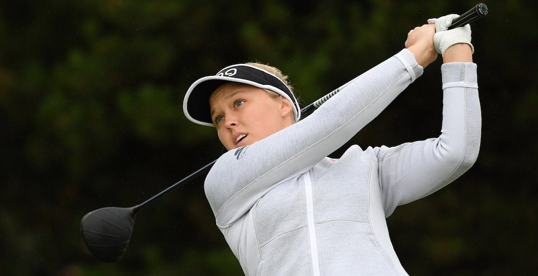 Canadian golfer Brooke Henderson drains hole-in-one at British Open (VIDEO)