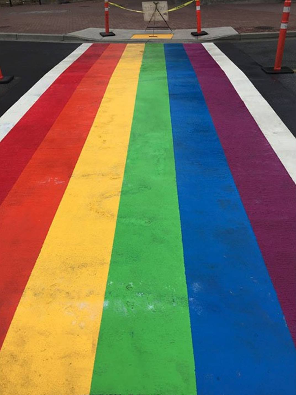 White Rock rainbow crosswalk