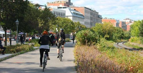 Lachine Canal bike path