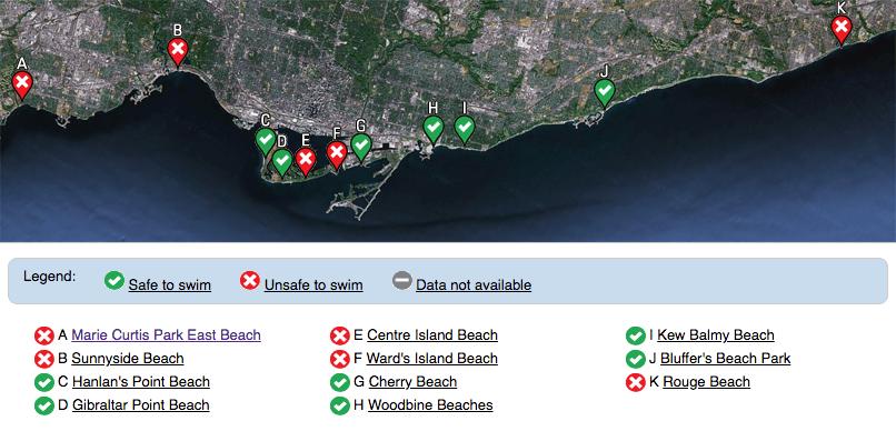 beaches unsafe