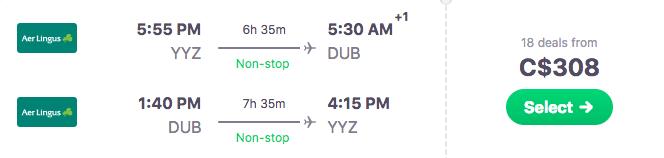 Ireland travel deal