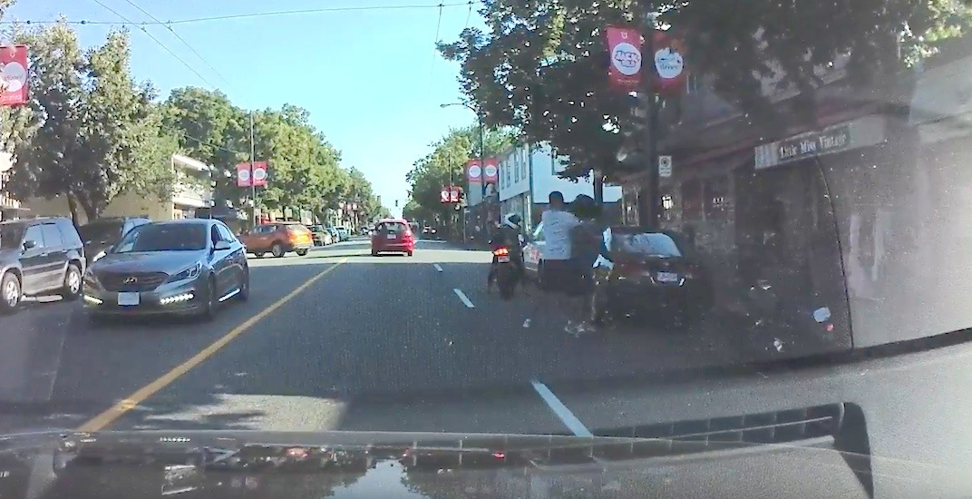 Motorcyclist smacks driver with helmet in Commercial Drive assault (VIDEO)