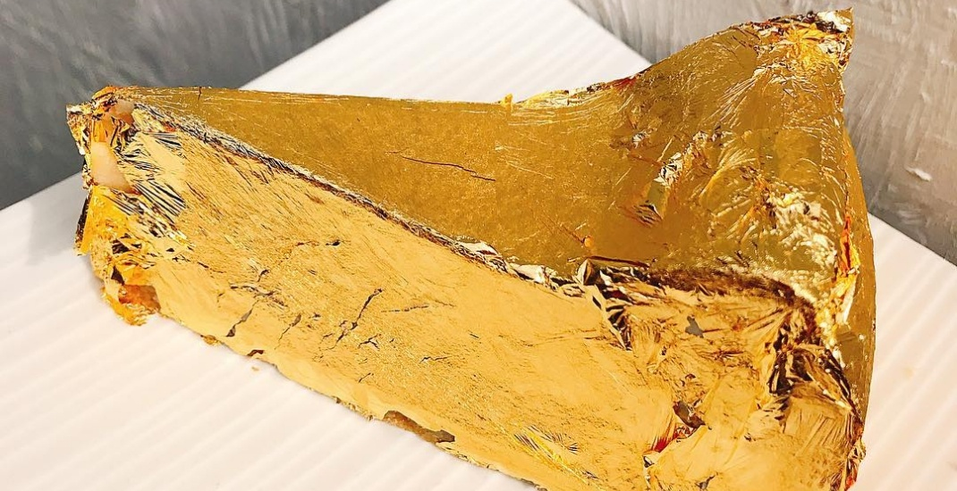 Gold-covered cheesecake is now on the menu at this Toronto cafe