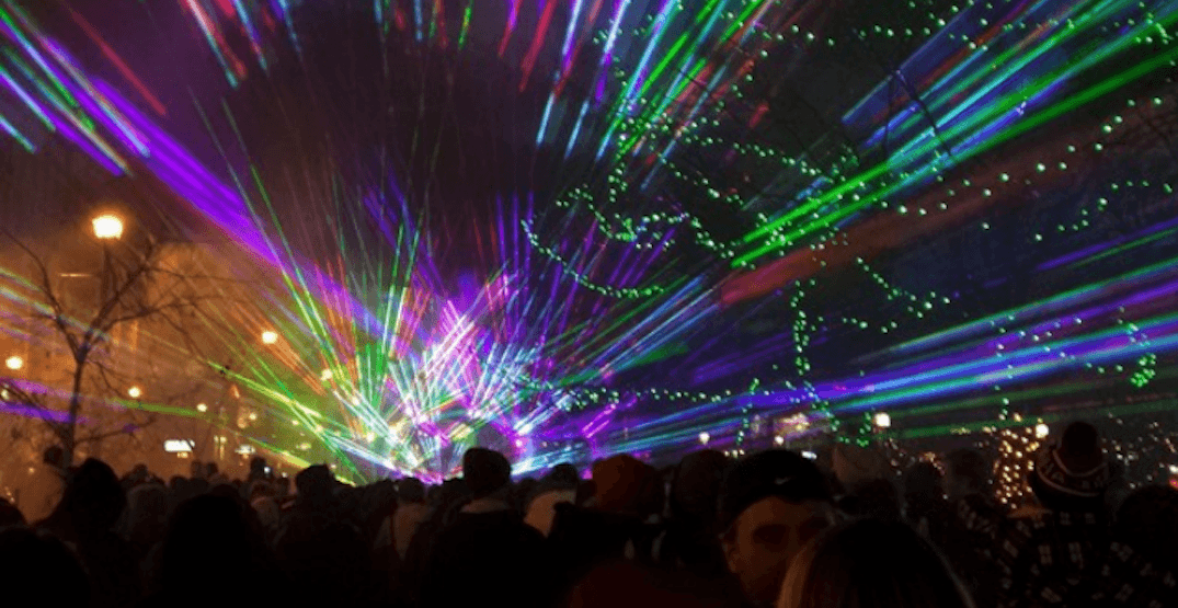There's an amazing laser, light and water show happening in the Badlands