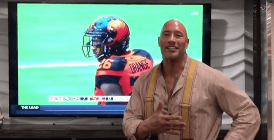 The Rock shows love for Wally Buono during inspiring video message