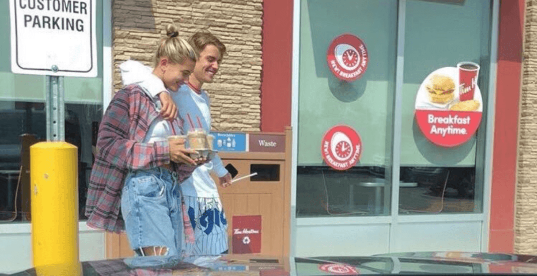 Justin Bieber takes fiancée Hailey Baldwin to Tim Hortons during hometown visit