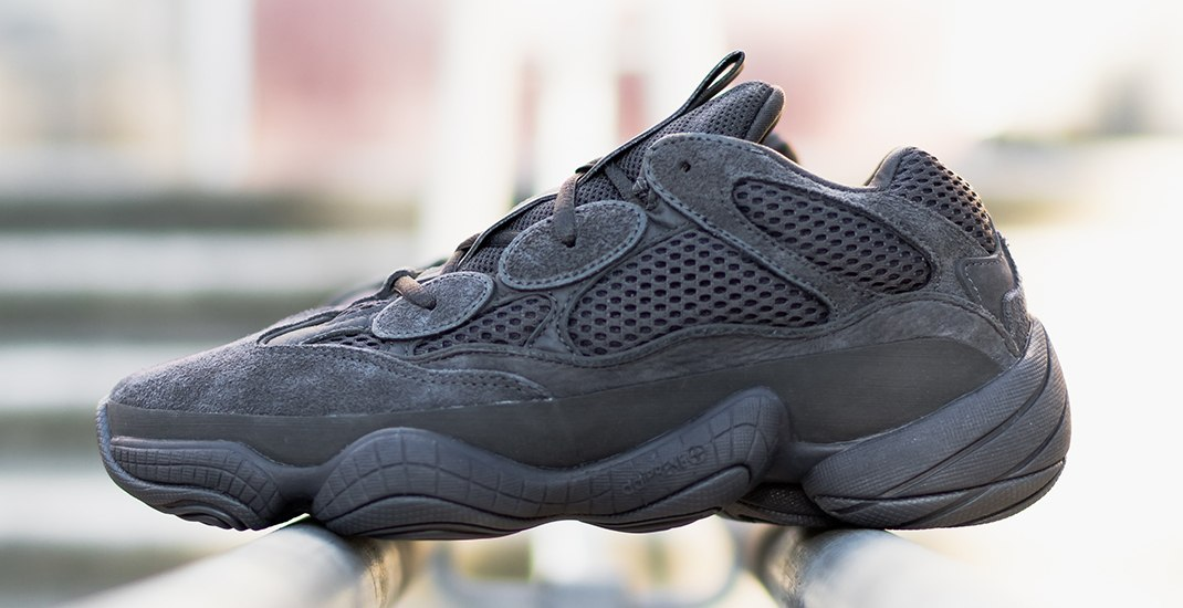 Win a pair of Adidas Yeezy 500 Utility Black sneakers
