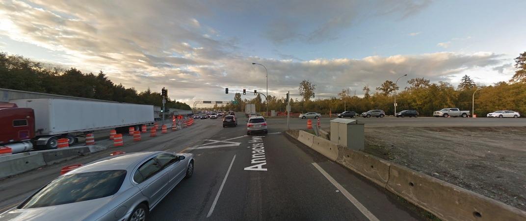 Highway 91 72 Avenue interchange