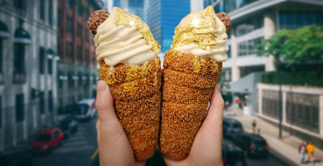 Gold-covered ice cream is launching in Vancouver at the PNE