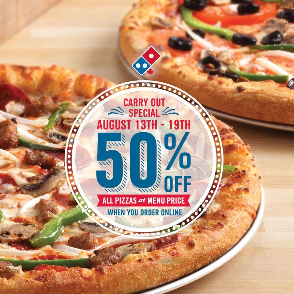 50% pizza dominos