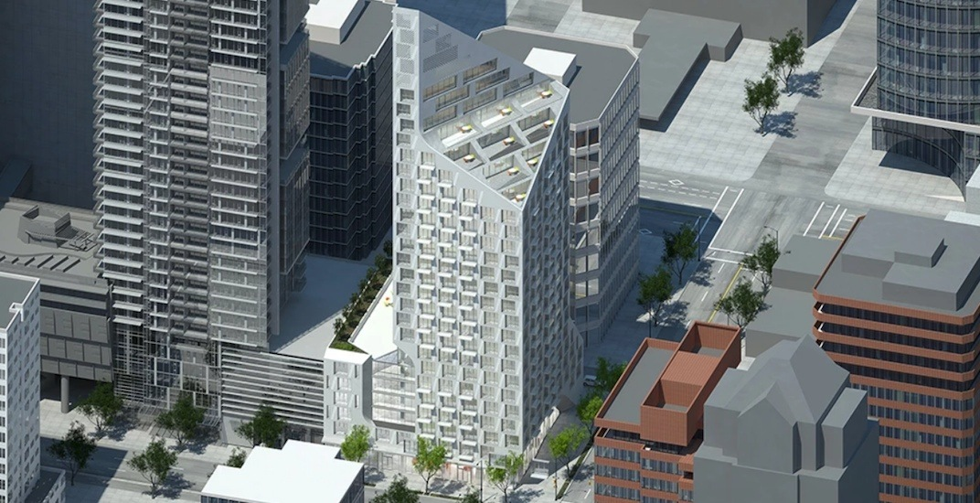 New renderings of quartz-shaped 'snowy' tower proposed for downtown Vancouver