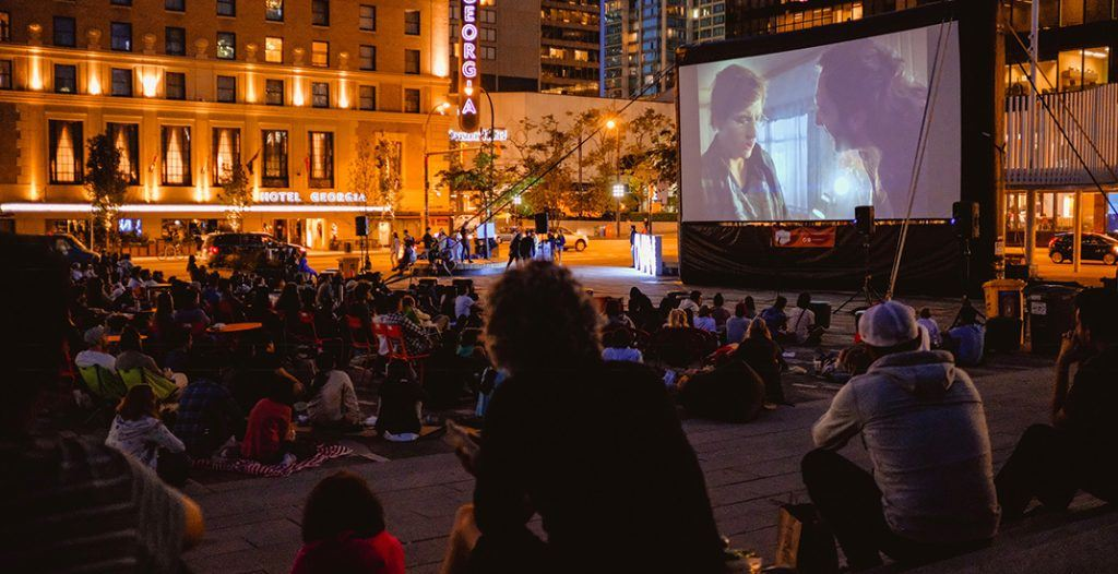 downtown Vancouver free outdoor movies