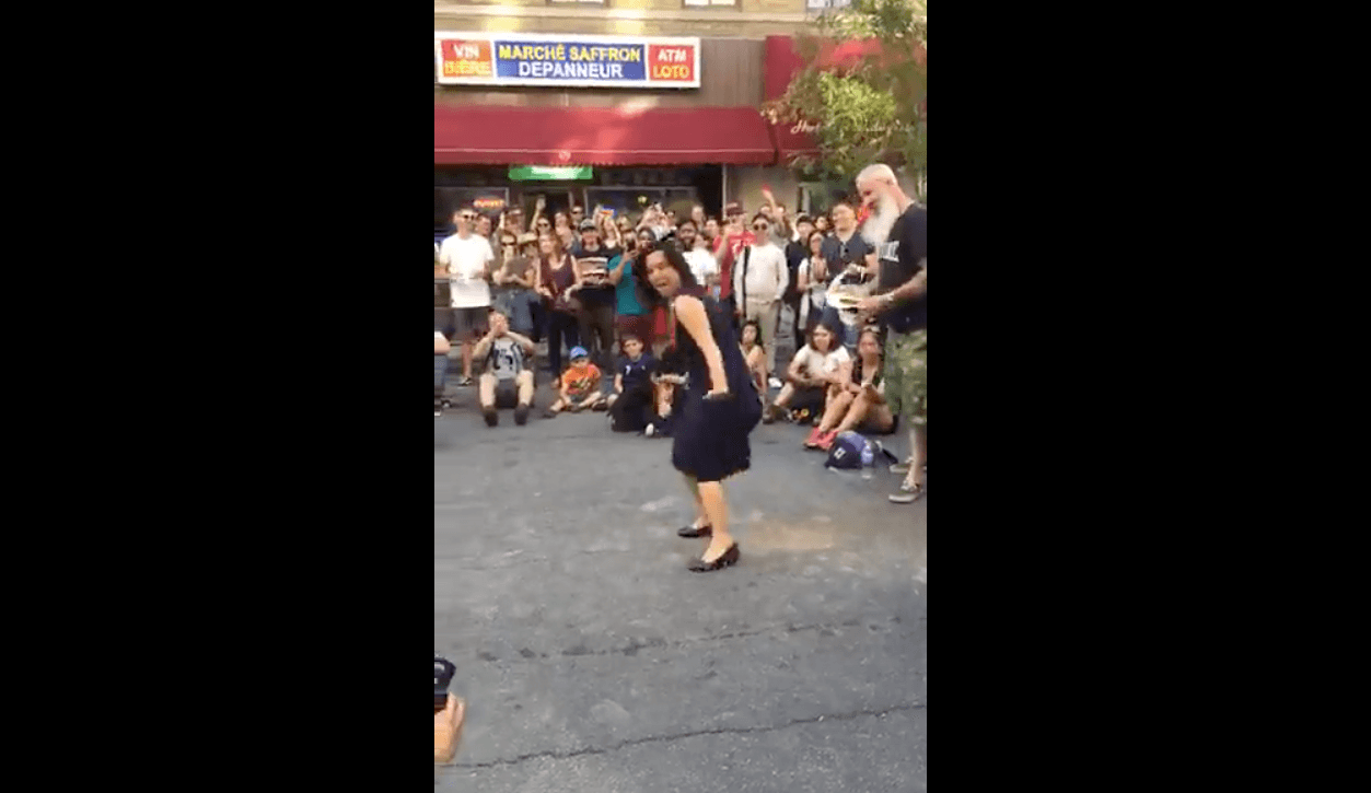 Montreal mayor Valérie Plante busts a move at art convention (VIDEO)