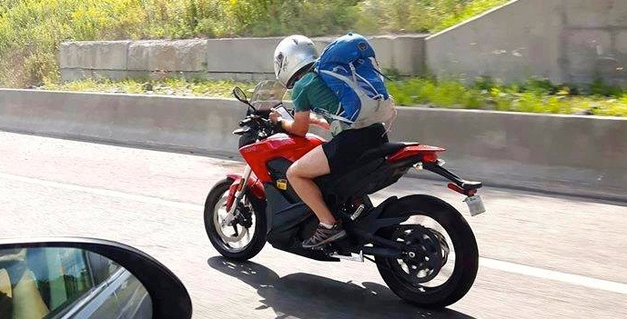 Motorcyclist in Quebec spotted using his cellphone while driving