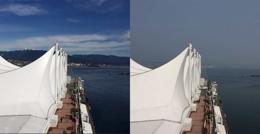 This is what Vancouver looks like before and after the wildfire smoke (PHOTOS)