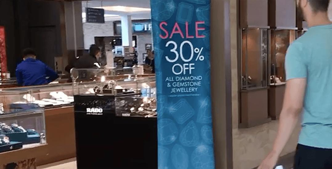 RCMP investigating brazen daytime jewellery theft at Richmond Centre Mall (VIDEO)