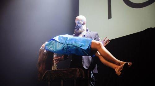 Matt Johnson performing a live levitation