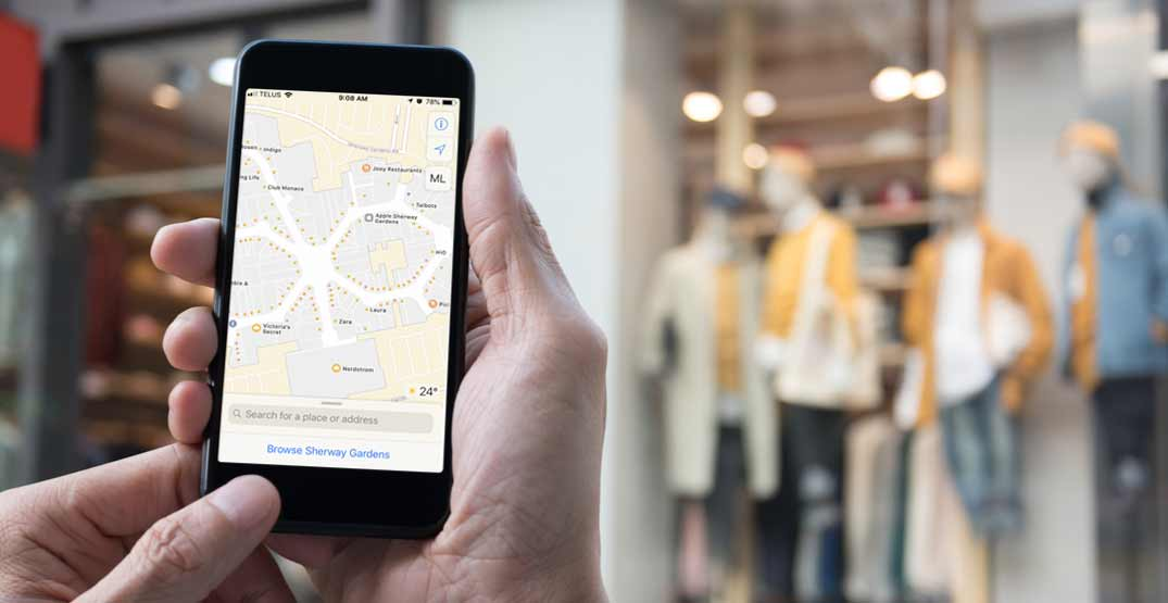 Apple adds indoor maps of Canadian shopping malls to navigation app