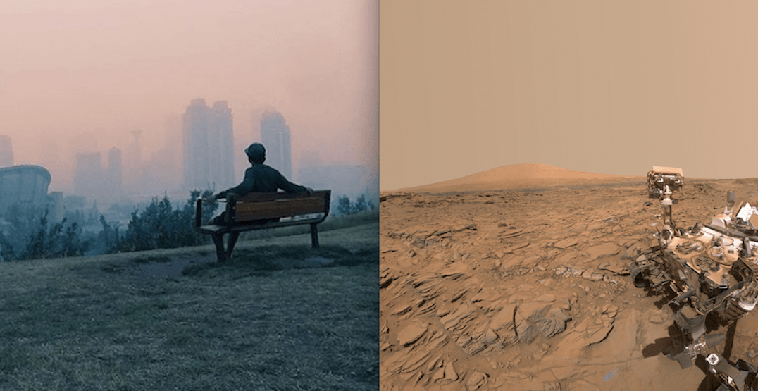 All this smoke is making it hard to tell the difference between Calgary and Mars (PHOTOS)