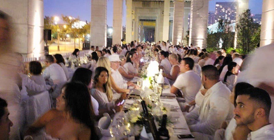 15 photos from last night's Dîner en Blanc at The Bentway in Toronto