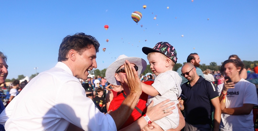 Justin Trudeau popped in to the International Balloon Festival last night (PHOTOS)
