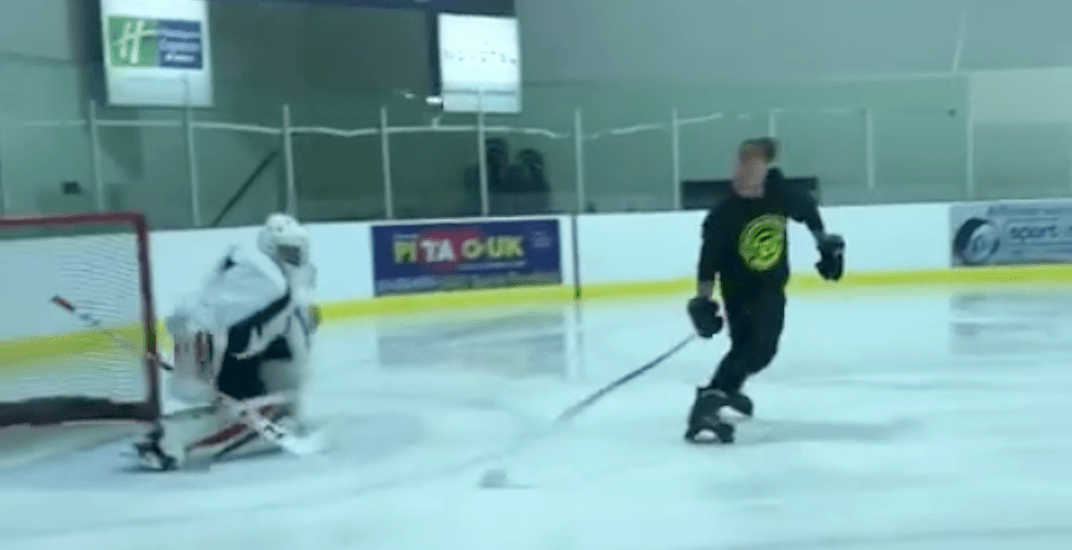 Montreal hockey coach shows off incredible new shootout move (VIDEO)