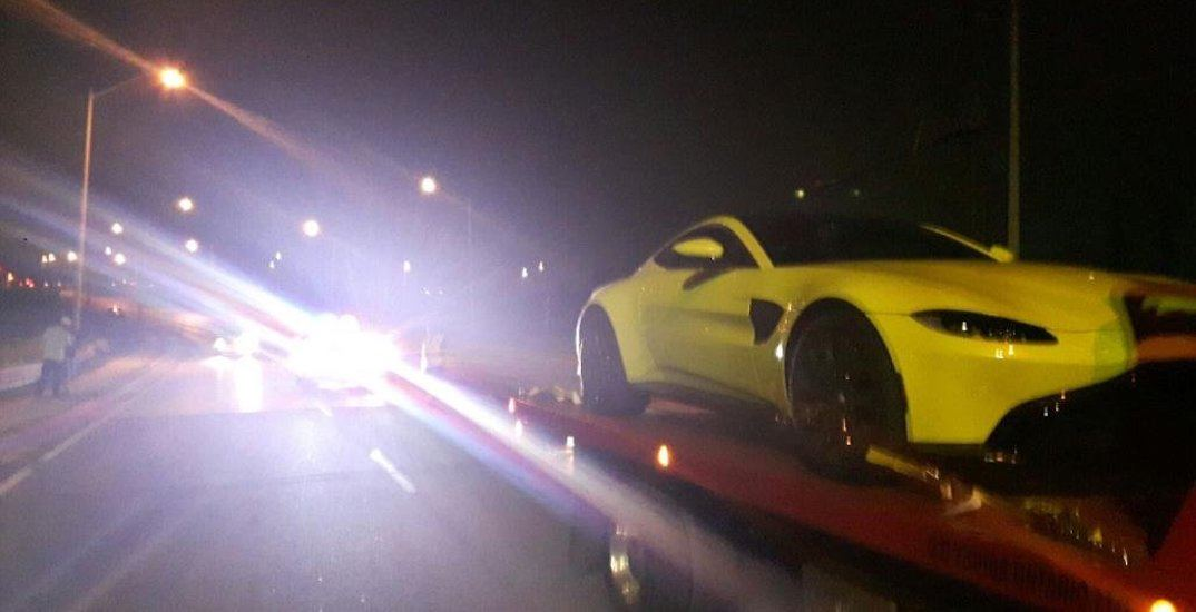 Aston Martin driver charged for travelling at 158 km/h in a school zone