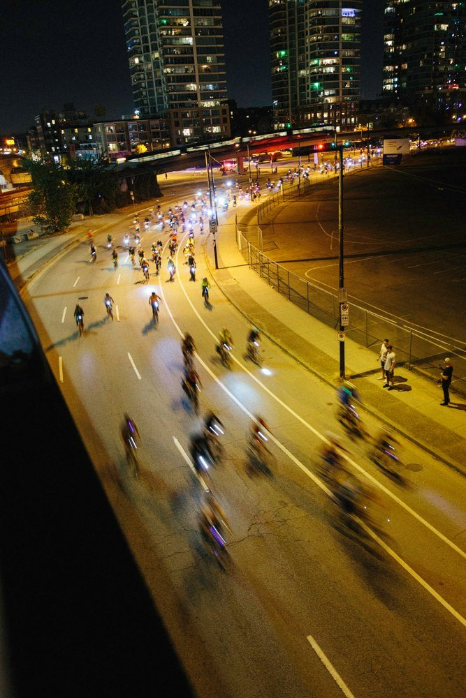bcs largest nighttime bike ride returns to vancouver this