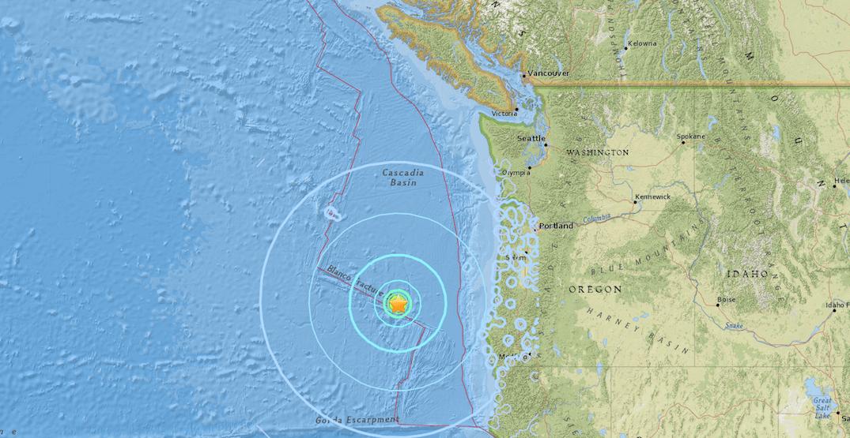 6.2 magnitude earthquake strikes off Oregon coast, 600 km from BC