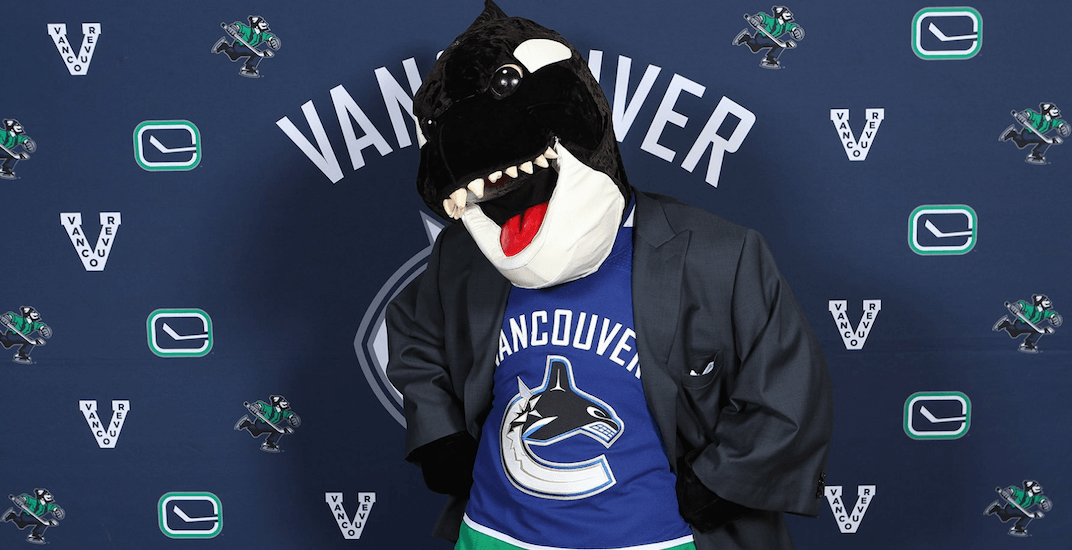 canucks fin mascot