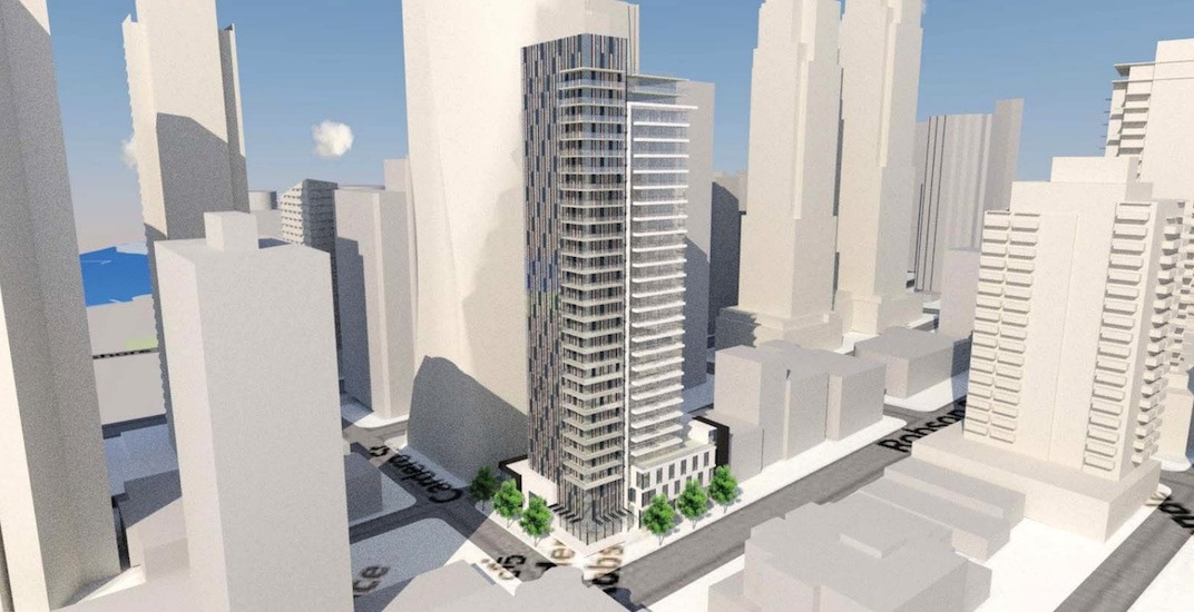 300-ft-tall condo tower proposed for Robson Street in the West End