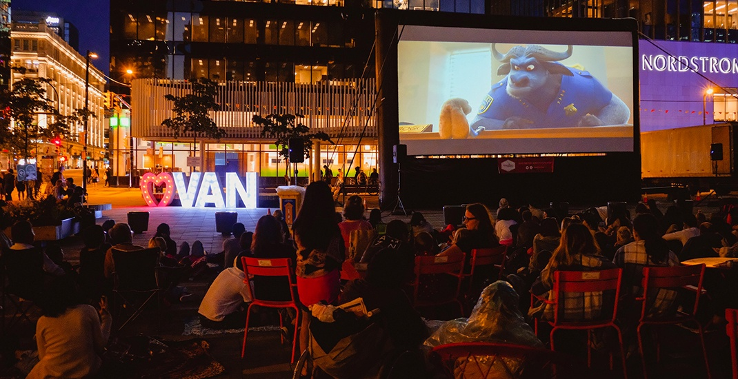 Downtown vancouver free outdoor movie