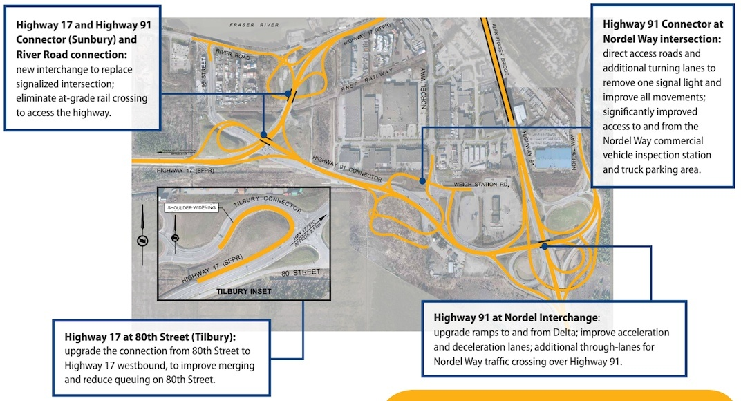 Highway 91/17 and Deltaport Way Upgrade Project