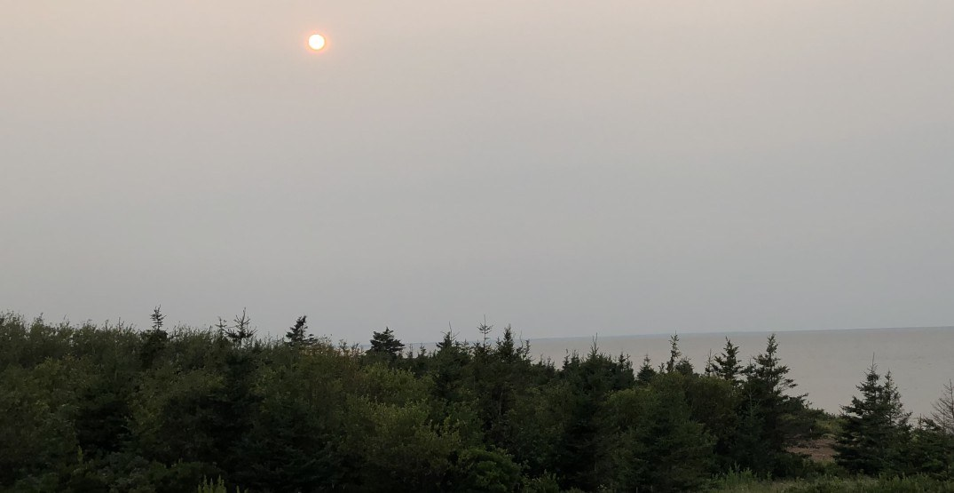 Smoke from BC wildfires has officially made it to the Maritimes
