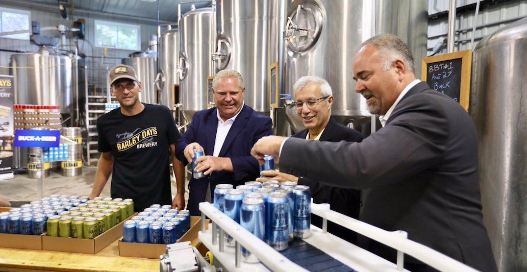 PC government's buck-a-beer comes into effect in Ontario