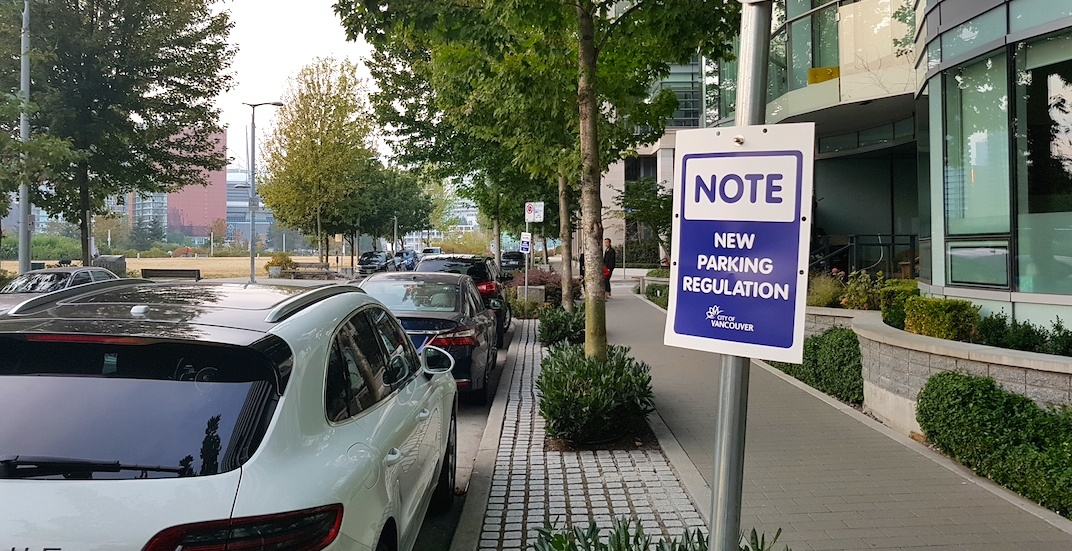 Remaining free street parking at Olympic Village now metered